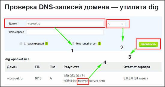 как определить хостинг домена