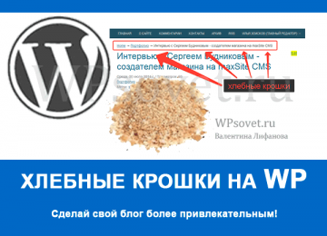 Супер быстро сделать хлебные крошки для wordpress блога.