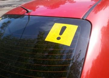 Восклицательный знак на авто
