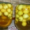 Консервация с помощью арбуза и целых яблок (без сахара и соли)