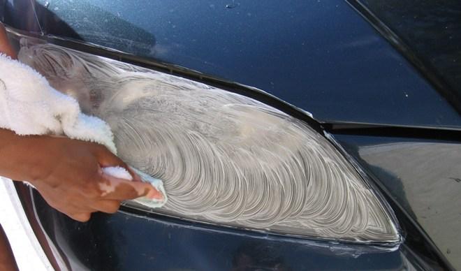 Бюджетная полировка фар автомобиля