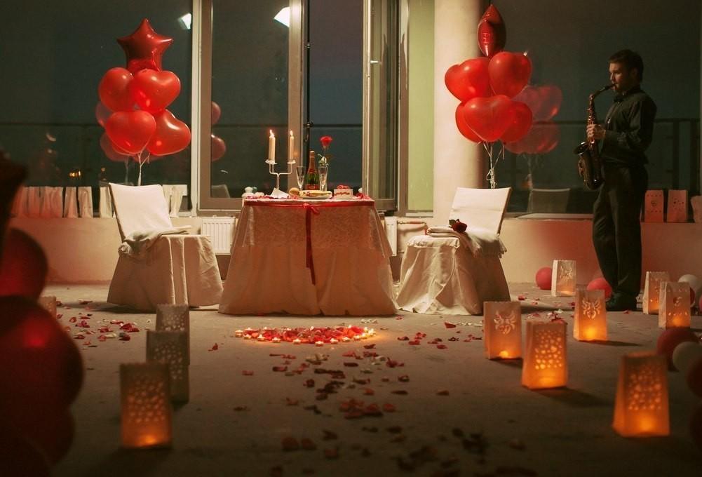 Романтическое оформление помещения