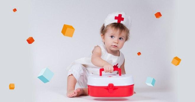 Базовый набор аптечки при рождении малыша