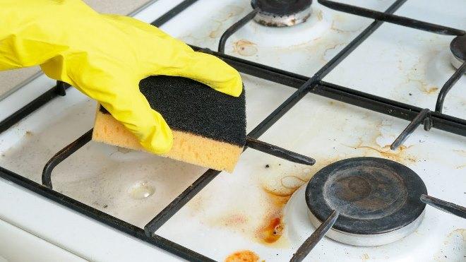 Как легко отмыть газовую плиту
