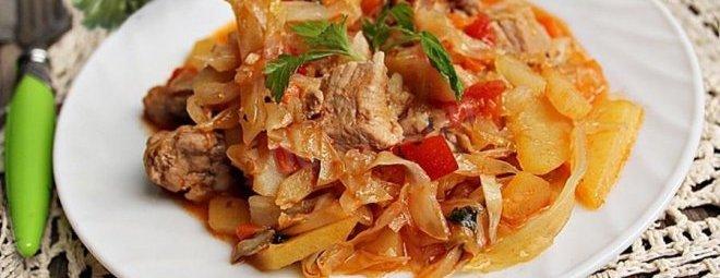 Как приготовить тушеную капусту с мясом